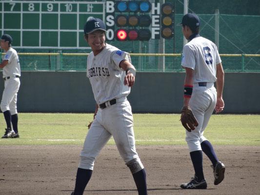 4打数3安打と二番打者として共立打線の繋ぎ役 玉本健太選手(経3:秀岳館高校)