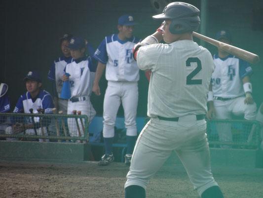 5打数4安打4打点と大活躍の2年生・片山勢三選手(経2:門司学園高校)