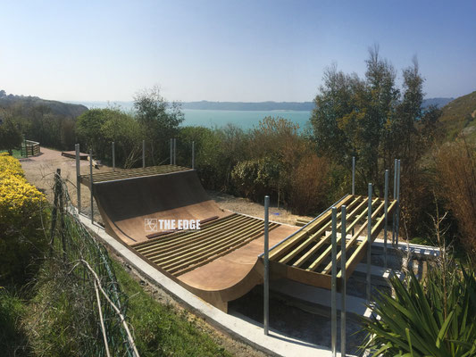THE EDGE Skatepark Design & Construction - Skatepark Mini Rampe Camping Le Chatelet St Cast le Guildo