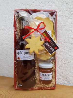 """""""Apfelschuss"""", Fr. 18.- / 1 Flasche Apfelpunsch, Apfelringli, Apfel-Gelée"""