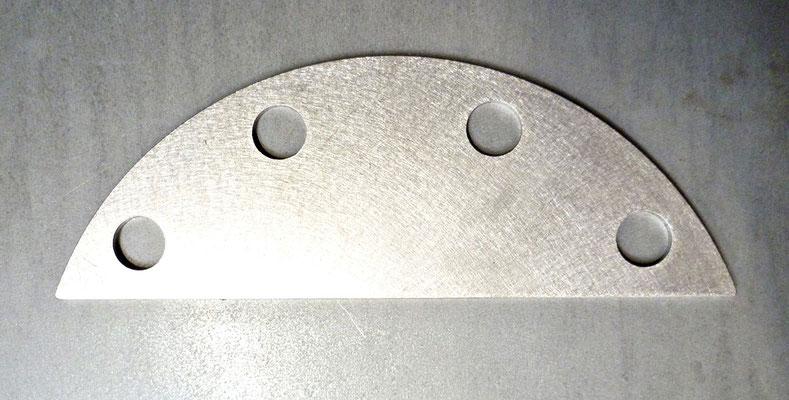 Flasque de serrage en inox 316L, épaisseur 3 mm