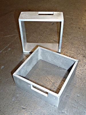 Perçage et fraisurage sur extrusion boîtier en aluminium AG3, épaisseur 4 mm