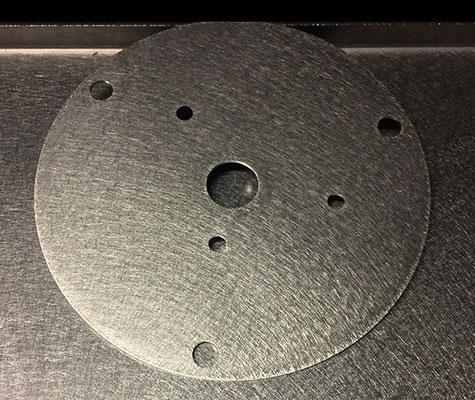Porte manivelle en inox 304L, épaisseur 1 mm