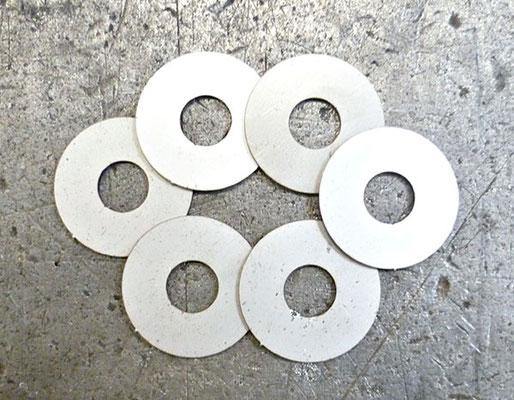 Rondelles de calage en acier E24, épaisseur 2 mm