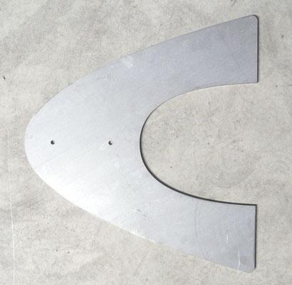Embase fusée en acier décapé DD11, épaisseur 8 mm