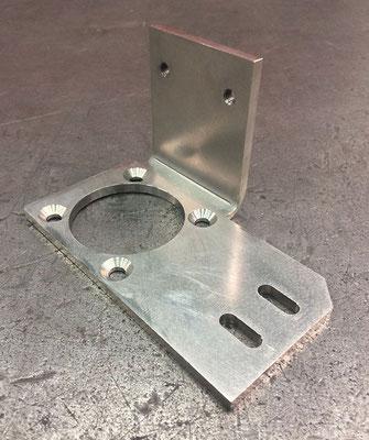 Support connecteur en aluminium AG3, épaisseur 3 mm