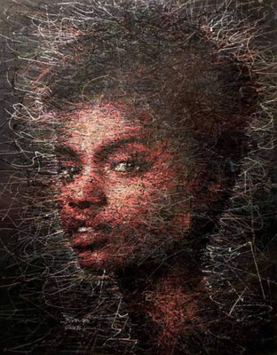 Das ist der Stil, in dem Adam das Auftragsbild malen möchte - eines seiner Frauenportraits