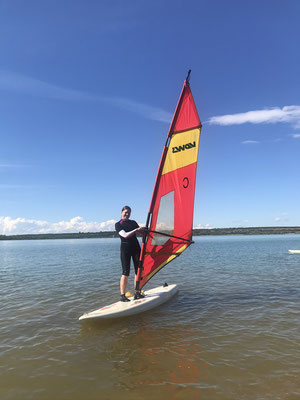 Windsurfen auf dem Störmthaler See