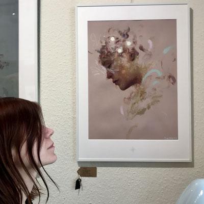 Allein mit den Kunstwerken von Thomas Hollbach - nach dem Lockdown im März