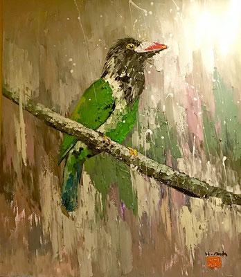 """Single Bird"", Ölgemälde aus Hanoi"