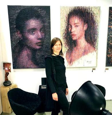 """Mein Stand auf der """"Neue Art Dresden"""" Kunstmesse im Januar 2019"""