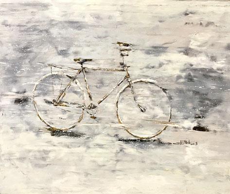 """Old Bicycle"" Ölgemälde aus Hanoi"