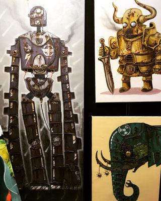 Die Roboter Bilder von Künstler Joey haben viele Fans gefunden