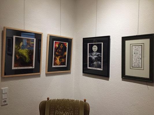 """Einblick in die Ausstellung """"Anderswelt"""" - Werke von Luci van Org und Holger Much"""