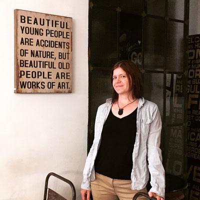 In einem Café in in Budapest