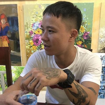 Künstler Nguyen Tho Hieu aus Hanoi im Interview über Kunst mit Susanne von Beuteltier Art Galerie