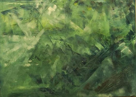Grün, Acryl, 50/70, verschenkt