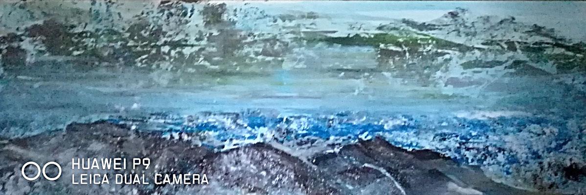 """""""Grauer Morgen am Bajkal"""", Acryl, 50x150, € 300,00"""