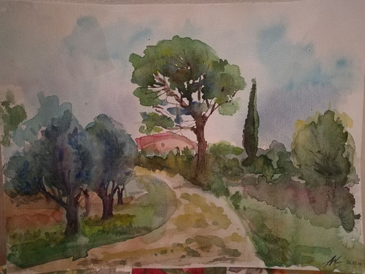 Aquarell, 30/40,  Toskana-02
