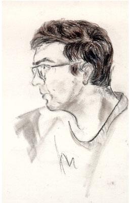 """Harry"", Kohle, 18x24"