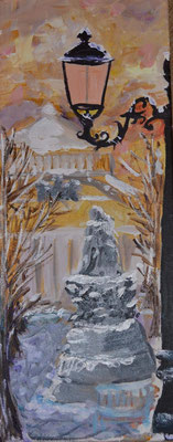 """Laterne in Sankt Petersburg"", Acryl, 20x50, € 150,00"
