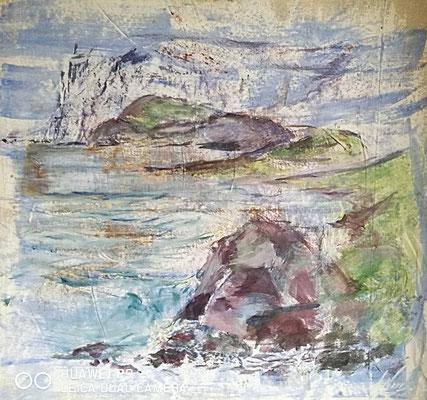"""""""Am Olchon Ufer"""", Acryl, 66x60, €300,00"""