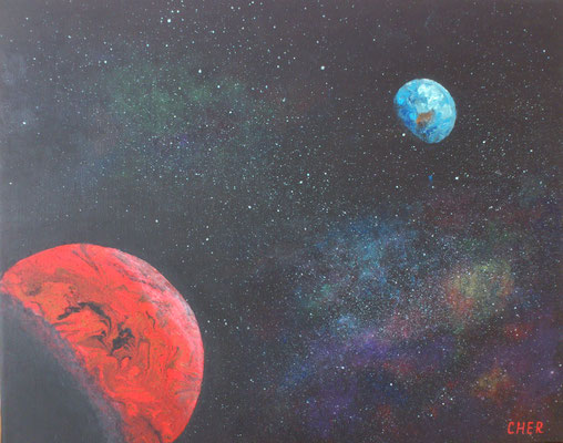 Roter Planet, Acryl, 50x40, € 120,00