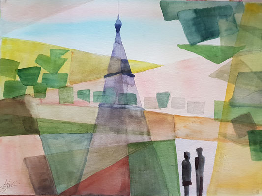 Love is .. Aquarell, 40x50, € 120,00