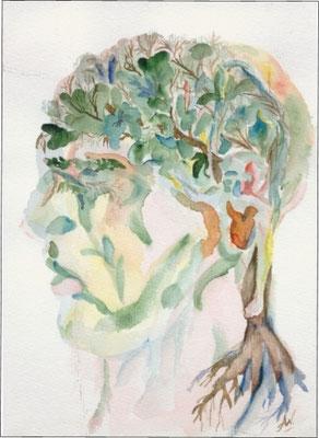 """Erinnerung"", Aquarell, 18x24"
