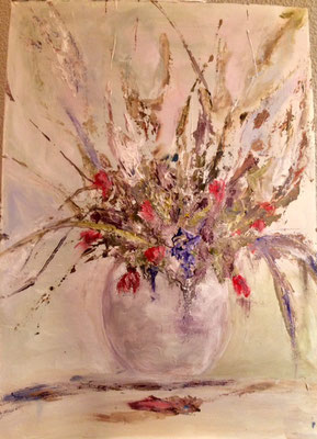 """""""Blumen I"""", Acryl, 30x40 (verschenkt)"""