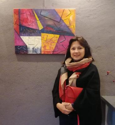 Olga Cher vor ihrer Abstraktion
