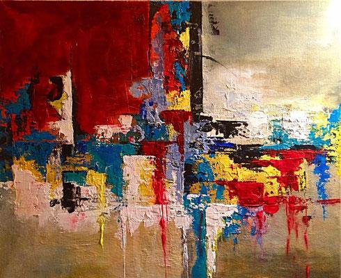 """Abstrakt I"", Acryl, 50x60, € 200, 00"