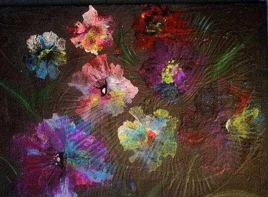 Blumen, Acryl, 40/30, € 60,00