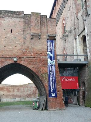 Castello Visconteo, Eingang in die Ausstellung