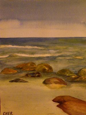 An der Ostseeküste, Aquarell, 30x40, € 70,00