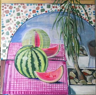 Wassermelone, Acryl 60x60, € 300,00