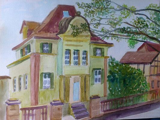 Haus am Berg, Aquarell, 30x40, € 80,00