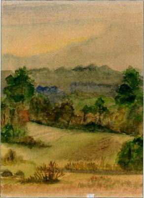 """""""Das Fröhliche Moor"""", Aquarell, 18x24, nicht verkäuflich"""
