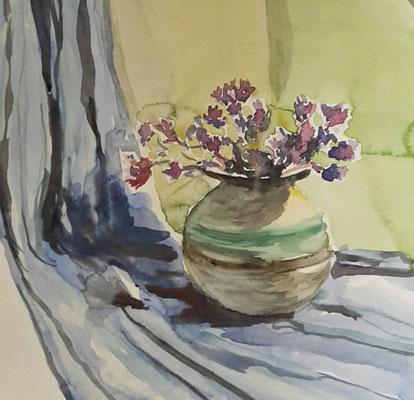 """Stilleben mit Vase"", Aquarell, 30x30"