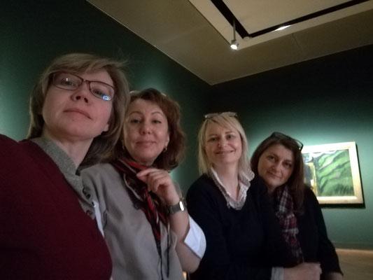 Alla Werr, Ilona Barath, Tanja Haug und Svetlana Lavrova im Georg Schäfer Museum, Schweinfurt