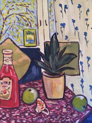 Stillleben nach Matisse, Acryl 30x40