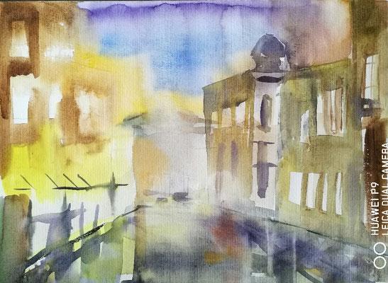 Stadtlandschaft,  Aquarell, 30x40, € 50,00