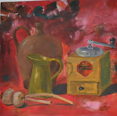 """Genuss"", Acryl, 40x40, € 150,00"