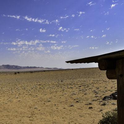 La vista dal Eagle's Nest Chalet ad Aus