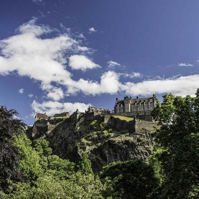 Castello di Edimburgo - dai Princes Gradens