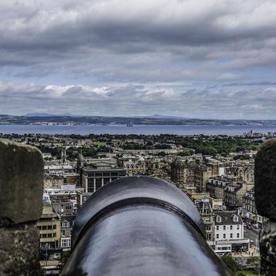 Castello di Edimburgo - Batteria di Cannoni
