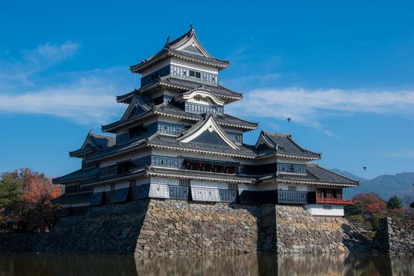 Vista del Corvo, il Castello di Matsumoto