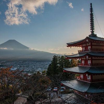 Chureito Pagoda e Monte Fuji