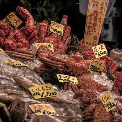 Granchi Freschi a Tsukiji