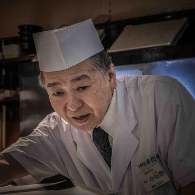 Il nostro gentilissimo cuoco da Sushi Zanmai